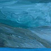Turbulent Skies And A Glacier  Art Print