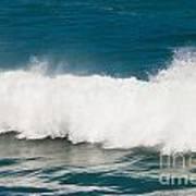 Turbulent Water Of Breaking Ocean Wave And Spray Art Print