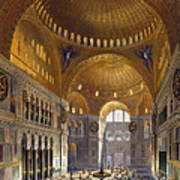 Turkey: Hagia Sopia, 1852 Art Print by Granger