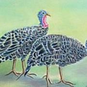 Turkey Trot Girls Art Print