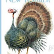 Turkey Wearing A False Pig Nose Art Print