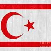 Turkish Republic Of Northern Cyprus Flag Art Print
