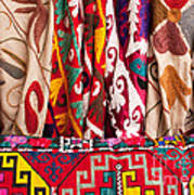 Turkish Textiles 03 Art Print