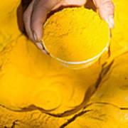 Turmeric Powder At Local Market - Myanmar Art Print