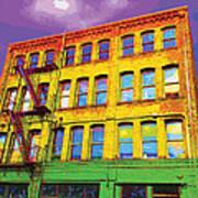 Turn Left At The Brick Building That Looks Like A Bad Acid Trip Art Print