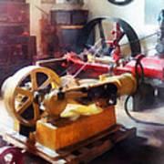 Turn Of The Century Machine Shop Art Print