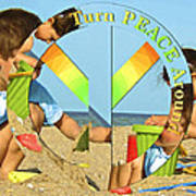 Turn Peace Around 2 Art Print by Charlie and Norma Brock