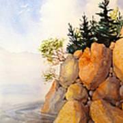Turnagain Rocks Art Print