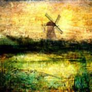 Turning Windmill Art Print