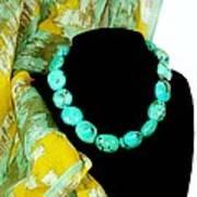 Turquoise Fashion Art Print