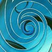 Turquoise Glass Koru Art Print