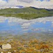 Turquoise Lake Art Print