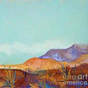 Turquoise Mountains Art Print