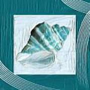 Turquoise Seashells Xxii Art Print