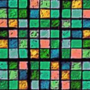 Turquoise Sudoku Art Print