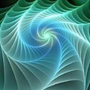Turquoise Web Art Print