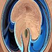 Turquoise Window Abstract 1  Art Print