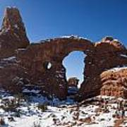 Turret Arch With Snow Arches National Park Utah Art Print