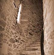 Turret Staircase Art Print