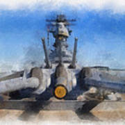 Turrets 1 And 2 Uss Iowa Battleship Photo Art 01 Art Print