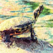 Turtle Brave Art Print