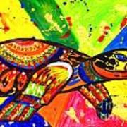 Turtle Pop Art Art Print
