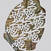 Turtle Shell's Inscription Art Print by Ousama Lazkani