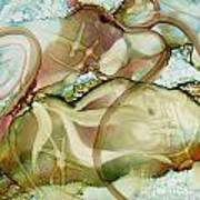 Turtles At Play Art Print by Carolyn Weir