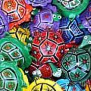 Turtles Turtles Everywhere Cozumel Mexico Art Print