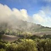 Tuscan Field In Fog Art Print