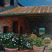 Tuscan Flower Pots Art Print