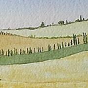 Tuscan Hillside Four Art Print