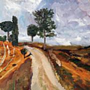 Tuscan Road Art Print