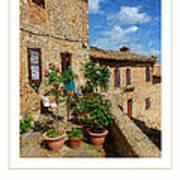 Tuscan Terrace Poster Art Print