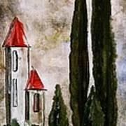 Tuscan Village Landscape Fine Art Print Art Print
