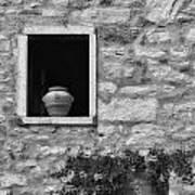 Tuscan Window And Pot Art Print