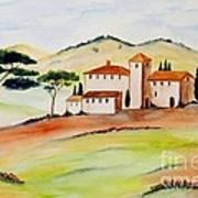 Tuscany-again And Again Art Print