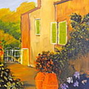 Tuscany Courtyard Art Print