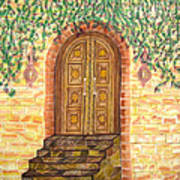 Tuscany Door Art Print