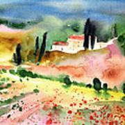 Tuscany Landscape 02 Art Print by Miki De Goodaboom