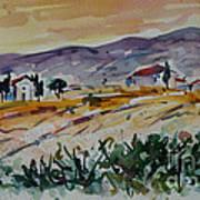 Tuscany Landscape 1 Art Print
