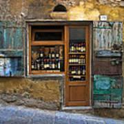 Tuscany Wine shop Art Print