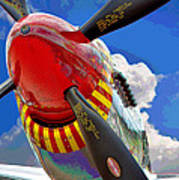 Tuskegee Airmen Fighter Plane Art Print