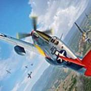Tuskegee Airmen P-51 Mustang Art Print by Stu Shepherd