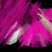 Tutu Stage Left Abstract Fuchsia Art Print