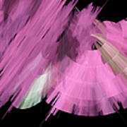 Tutu Stage Left Abstract Pink Art Print