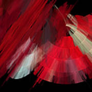 Tutu Stage Left Red Abstract Art Print