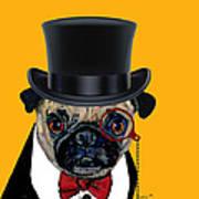 Tux Pug Art Print