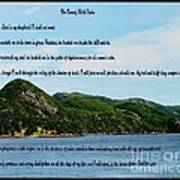 Twenty Third Psalm And Mountains Art Print