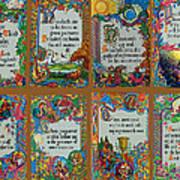 Twenty Third Psalm Collage Art Print